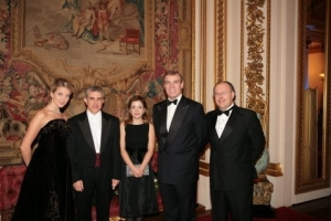 Next to Prince Andrew after Concert at Buckingham Palace in Oct 2006